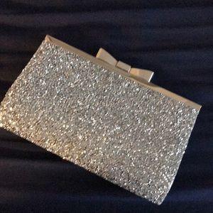 Handbags - Silver Bling clutch